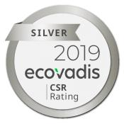 ecovadis silver CSR rating 2019