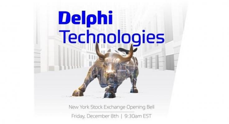 Delphi Technologies to Ring Opening Bell at the New York Stock Exchange on December 8